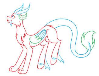 Pony/Draconequus hybrid base by Silvercloud36