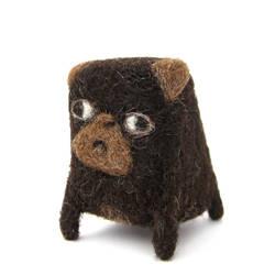 Joshua - Needlefelted Pug by Poopycakes-makes