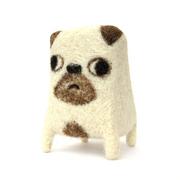 Ralph - Needlefelted Pug by Poopycakes-makes