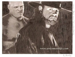 Undertaker and Kane by eazy101