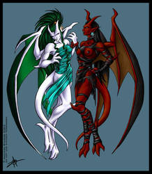 Orin and Phoenix- Fire and Ice by KytheraOA