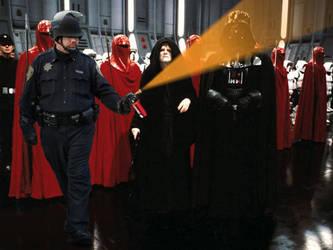 Pepper Spray Darth Vader by chrisjanusdesign