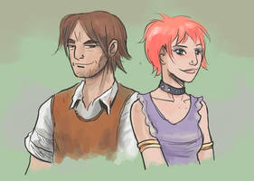 Lupin and Tonks by jjnaas