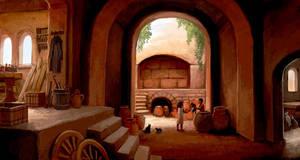 In A Sunburned Courtyard by jjnaas