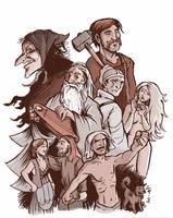 Heroes of Kalevala by jjnaas