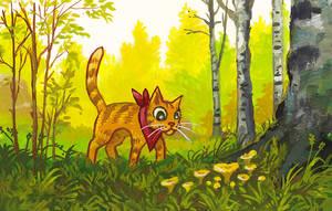 Chanterelle Cat by jjnaas