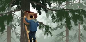 Installing an owls nest by jjnaas