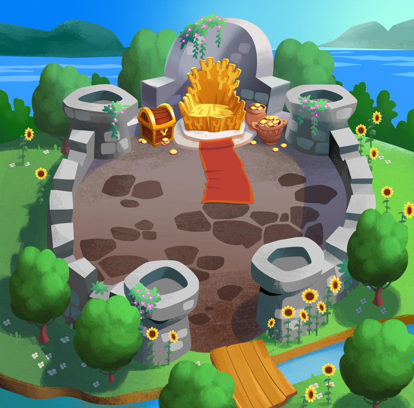 Throne Rush Map by jjnaas