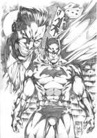 BATMAN VS JOKER by MARCIOABREU7