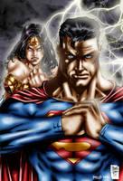 Superman_Wonder Woman colors by MARCIOABREU7