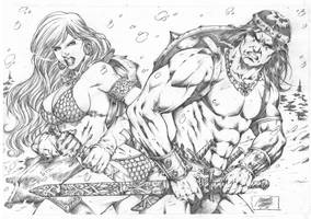 Red Sonja_Conan by MARCIOABREU7