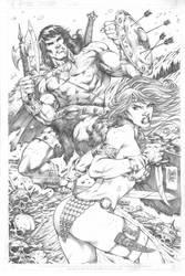 Conan and Sonja by MARCIOABREU7