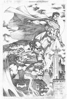 Commission Batman Superman by MARCIOABREU7