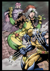 Wolverine and Rogue by MARCIOABREU7