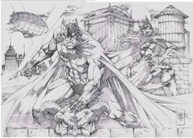 Commission Batman Batgirl by MARCIOABREU7