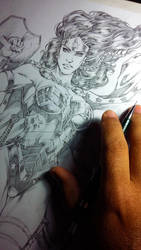 Wonder Woman in progress! by MARCIOABREU7