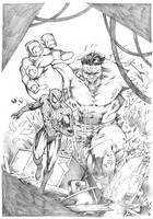 Hulk vs Spiderman _ Marcio Abreu by MARCIOABREU7
