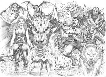 Double page - Game of Thrones - Marcio Abreu by MARCIOABREU7