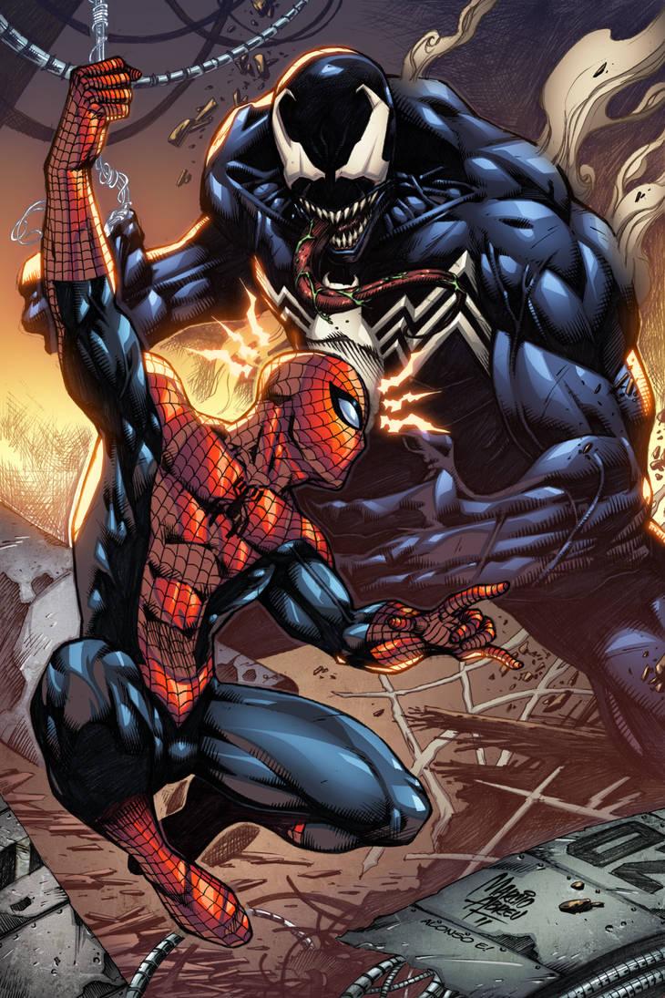 Spiderman Vs Venom Colors By Marcioabreu7 On Deviantart