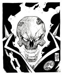 Ghost Rider INKTOBER 2018 by MARCIOABREU7