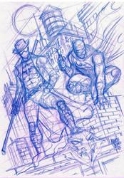 Sketch Ronim Batman Marcio Abreu  by MARCIOABREU7