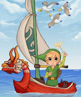 The Wind Waker by PandaHatLara