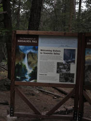 Info sign about the waterfall by MagicoffMusic