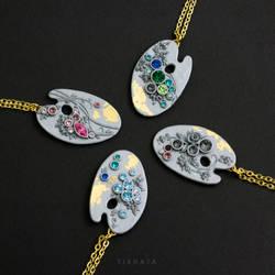 Artist Bling Palettes - Pendants by tishaia