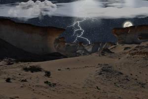 Stormy Desert Valley by velcrowmistress