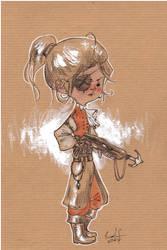 Girl with Speargun by radja01