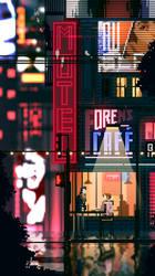 Pixels and Cyberpunk by Dlarf