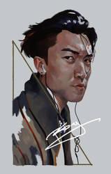 Self Portrait by Dlarf