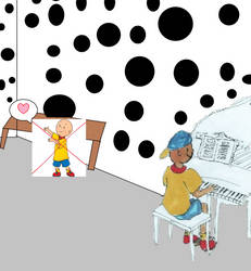 CFB2005 seeing Caillou playing his piano by RhiannaPiano300