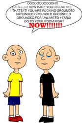 Evil Caillou Gets Grounded (Drawing version) by RhiannaPiano300