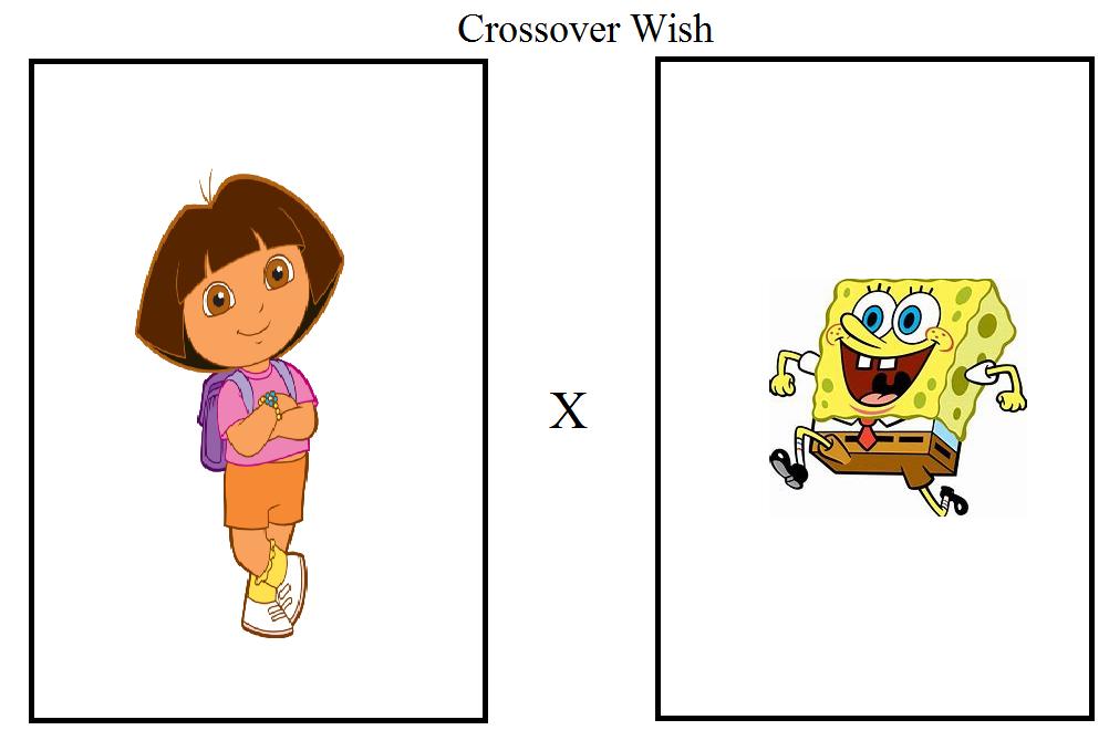 SpongeBob x Dora Crossover by RhiannaPiano300