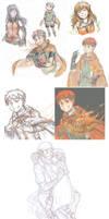 FE9+10: doodle dump by KatYoukai