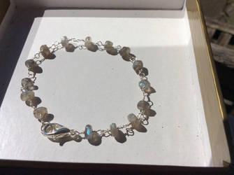 Labradorite link bracelet by Cre8tivedesignz