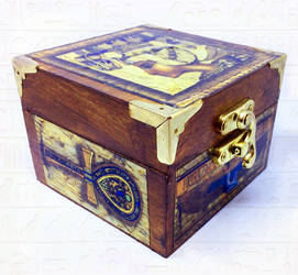 Egyptian theme jewellery trinket keepsake gift box by Cre8tivedesignz
