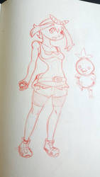 Pokmon Sapphire(May) sketch by PonZet
