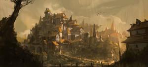 Fantasy Village by Sketchshido