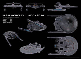 USS Korolev, NCC-2014, ortho by harroldsheep