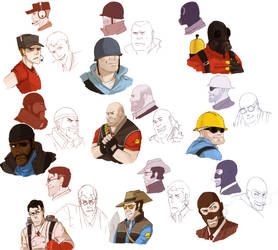 TF2: Heads and Busts Practice by MooFrog44