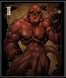 Hellboy Nude by HellboySoto
