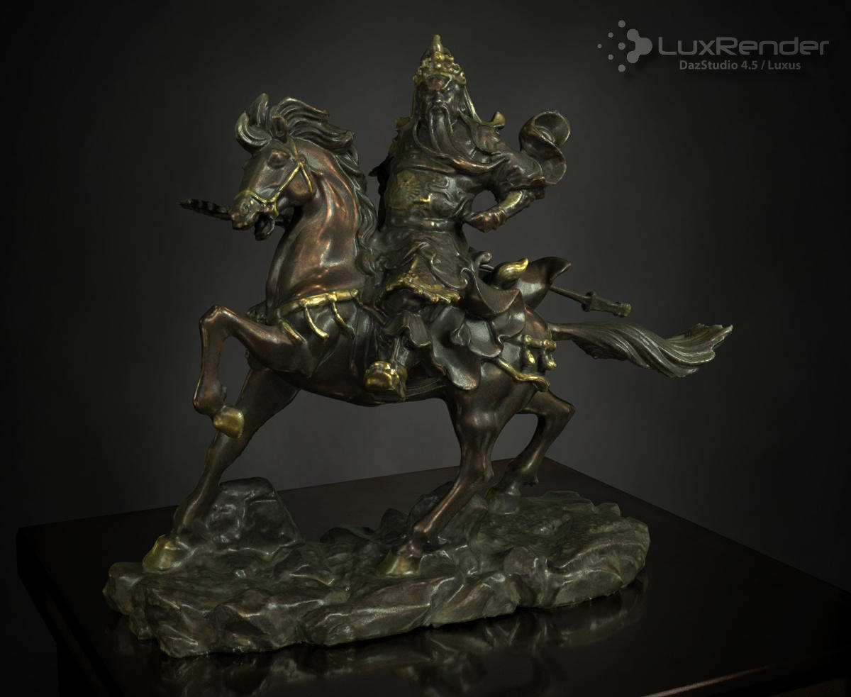 Guan Yu Statue by HellboySoto