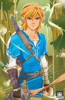 Link, Breath of the Wild, Fan Art by LenLenbell