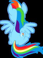 sitting Rainbow Dash's back by HerrMyrddin