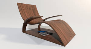 Modern Wooden Lounger by Dejavu2182