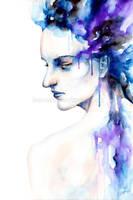 Watercolor portrait by leamatte