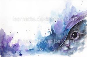 watercolor cat #2 by leamatte