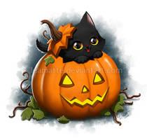 Halloween cat by leamatte